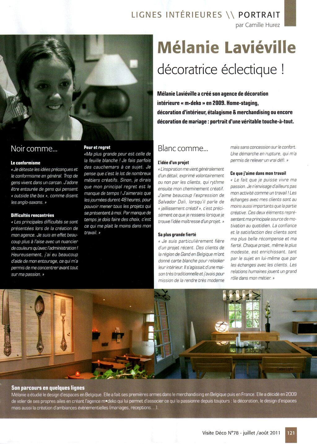 magazine visite d co de juin 2011 m lanie lavi ville d coratrice clectique blog d co. Black Bedroom Furniture Sets. Home Design Ideas