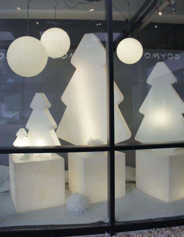 Vitrine de Noël pour DOMYOS Marcq-en-Baroeul