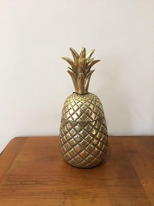 Ananas doré déco