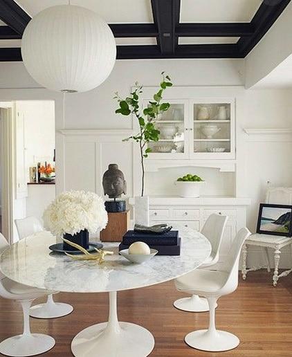 Table et chaises tulipes - Eero Saarinen